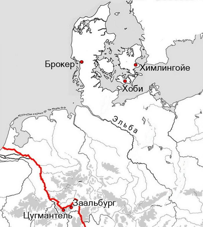 Римляне в Скандинавии (5 г. нашей эры)