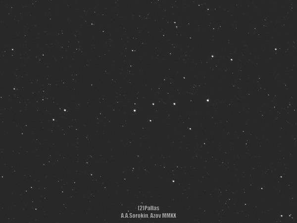 Пролет астероида Паллада в ночь на 1 июля Астрономия, Астрофото, Астероид, Паллада, Телескоп, Космос, Гифка