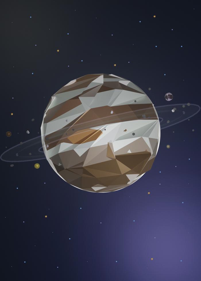 Юпитер Low Poly