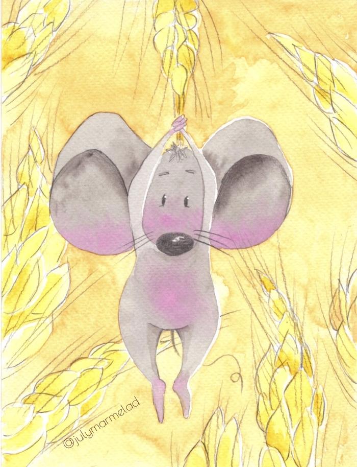 Акварельная мышка