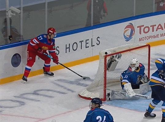 Лакросс-гол от Родиона Амирова Спорт, Хоккей, Сборная России, Гол, Гифка