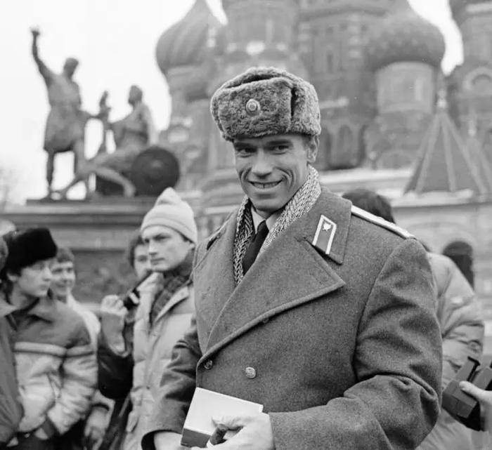Арнольд Шварцнеггер на Красной площади (1988)