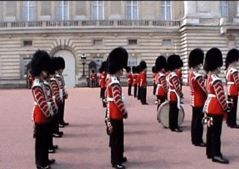 Интересные факты о королевской гвардии Великобритании Королевская гвардия, Великобритания, Армия, ADME, Гифка, Видео, Длиннопост