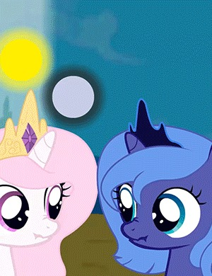 Битва тысячелетия My Little Pony, Princess Luna, Princess Celestia, Гифка