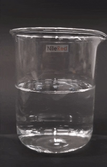 Охлаждение ртути до твёрдого состояния в жидком азоте и плавление в тёплой воде Ртуть, Металл, Эксперимент, Лига химиков, Гифка