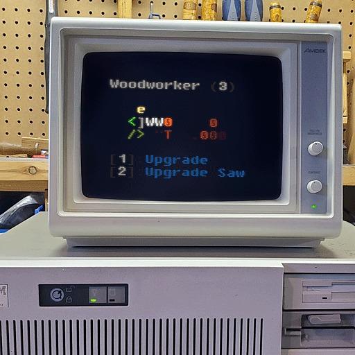 Персонаж «Плотник» для ASCII игры Инди игра, Ретро-Игры, ASCII Art, Гифка