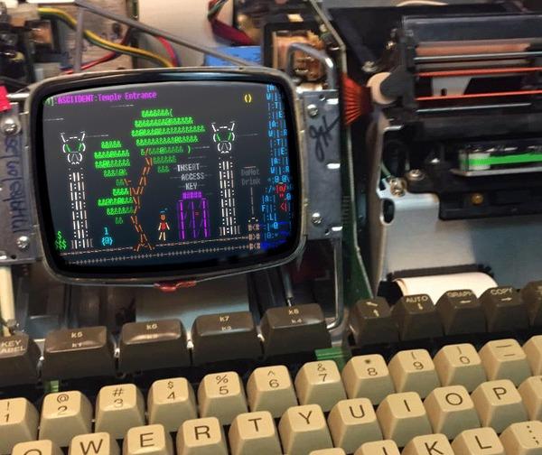 Анимация на древнем железе Старое железо, Ретро-Игры, Инди игра, ASCII Art, Asciident, Анимация, Гифка