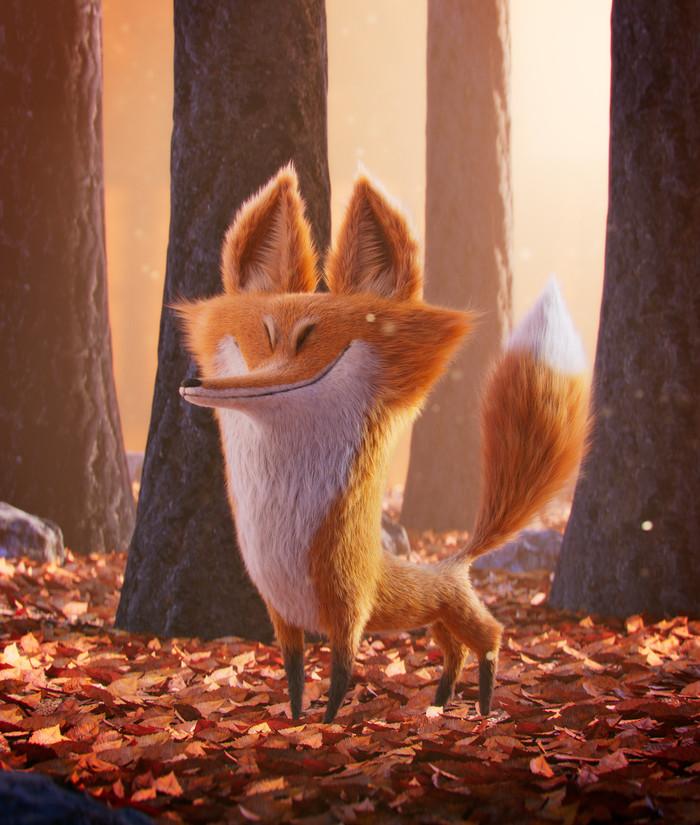 Осенняя лиса