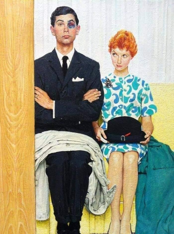 """Норман Роквелл """"У семейного психолога"""", 1963 г"""