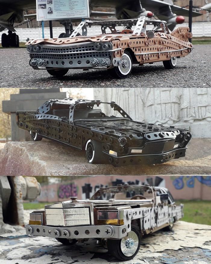 1959, 1968, 1980 Cadillac Deville из металлического конструктора
