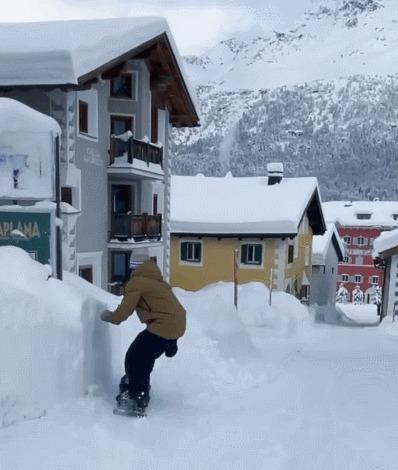 Весело и красиво Спорт, Сноуборд, Швейцария, Красивый вид, Горы, Red Bull, Гифка