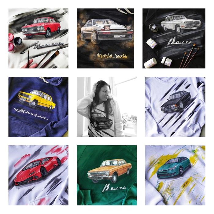 Коллаж из моих авто на толстовках за последние полгода. Все не вмещаются Авто, Автомобилисты, Жигули, Москвич, BMW, Волга, Машина, Porsche, АвтоВАЗ, Lamborghini, УАЗ, Citroen