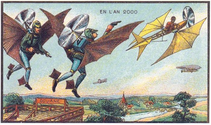 В 1899 году выпустили открытки о том, как мы будем жить в 2000-х и сегодня их нельзя смотреть без смеха