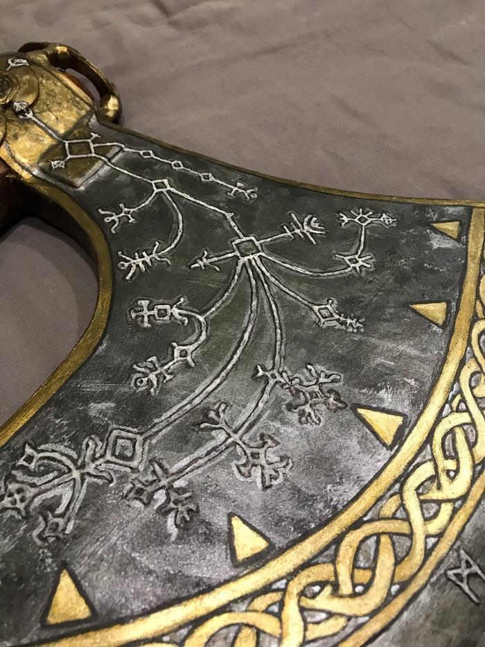 Топор Кратоса из God of War 4, четвертый Своими руками, God of War, Кратос, Левиафан, Топор, Крафт, Косплей, Игры, Творчество, Длиннопост, Рукоделие с процессом