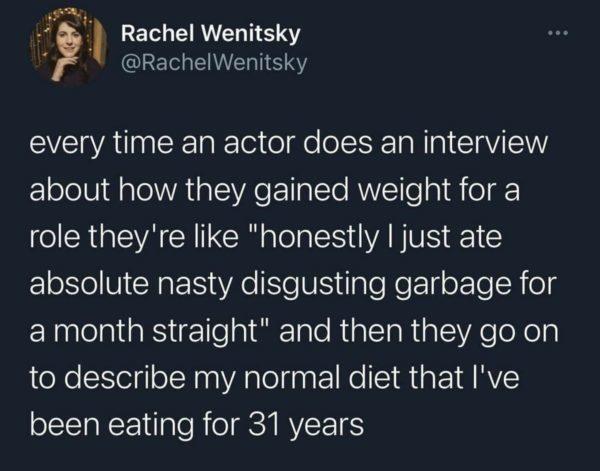 Поэтому я и не худею