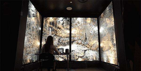 Пульсирующая световая комната Современное искусство, Инсталляция, Свет, Анимация, Необычное, Своими руками, Комната, Интерьер, Дизайн, Дизайнер, Гифка, Видео, Длиннопост