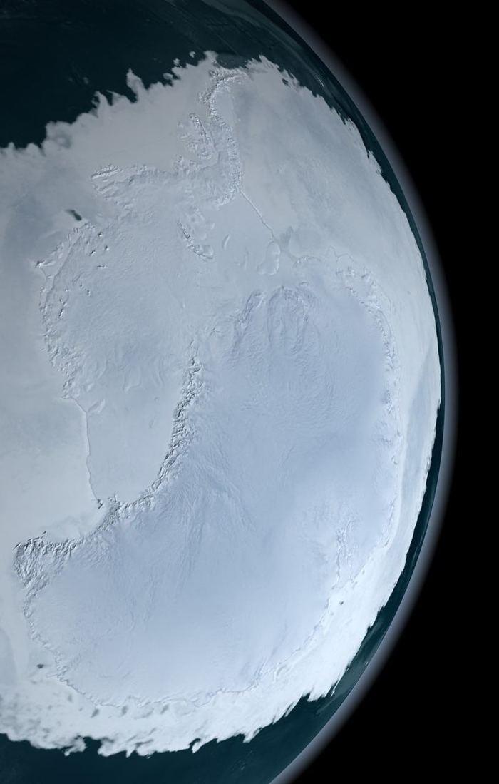 Антарктида - вид из космоса