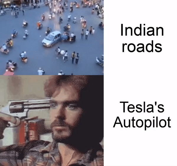 Индийское движение и Tesla-автопилот