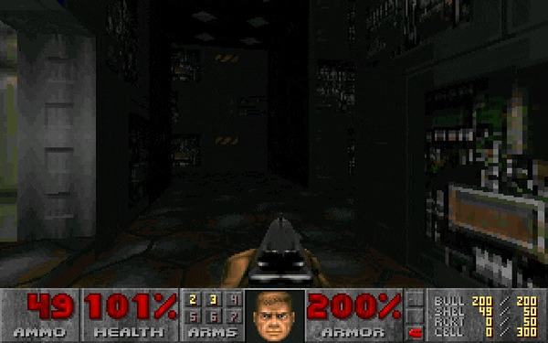 DOOM (часть 1) 1993, Прохождение, Doom, ID Software, Игры для DOS, Компьютерные игры, Шутер, Ретро-Игры, Гифка, Длиннопост