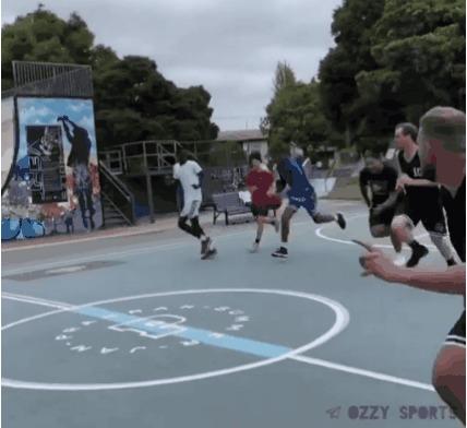 Дерзко Спорт, Баскетбол, Данк, Трюк, Гифка