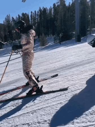 Правда, у лыжника, конечно, получше условия Спорт, Горные лыжи, Сноуборд, Трюк, Гифка