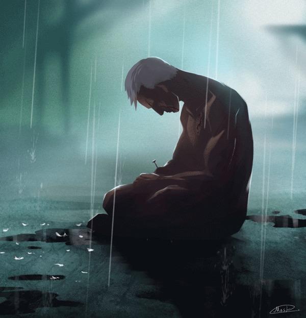 Слёзы в дожде Арт, Гифка, Фильмы, Бегущий по лезвию, Roy Batty