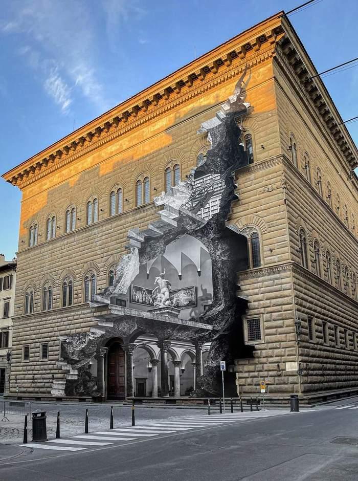 Реклама выставки в Палаццо Строцци, Флоренция