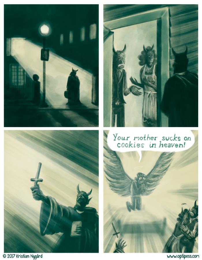 Грешной отец, в нашу дочь вселился ангел...