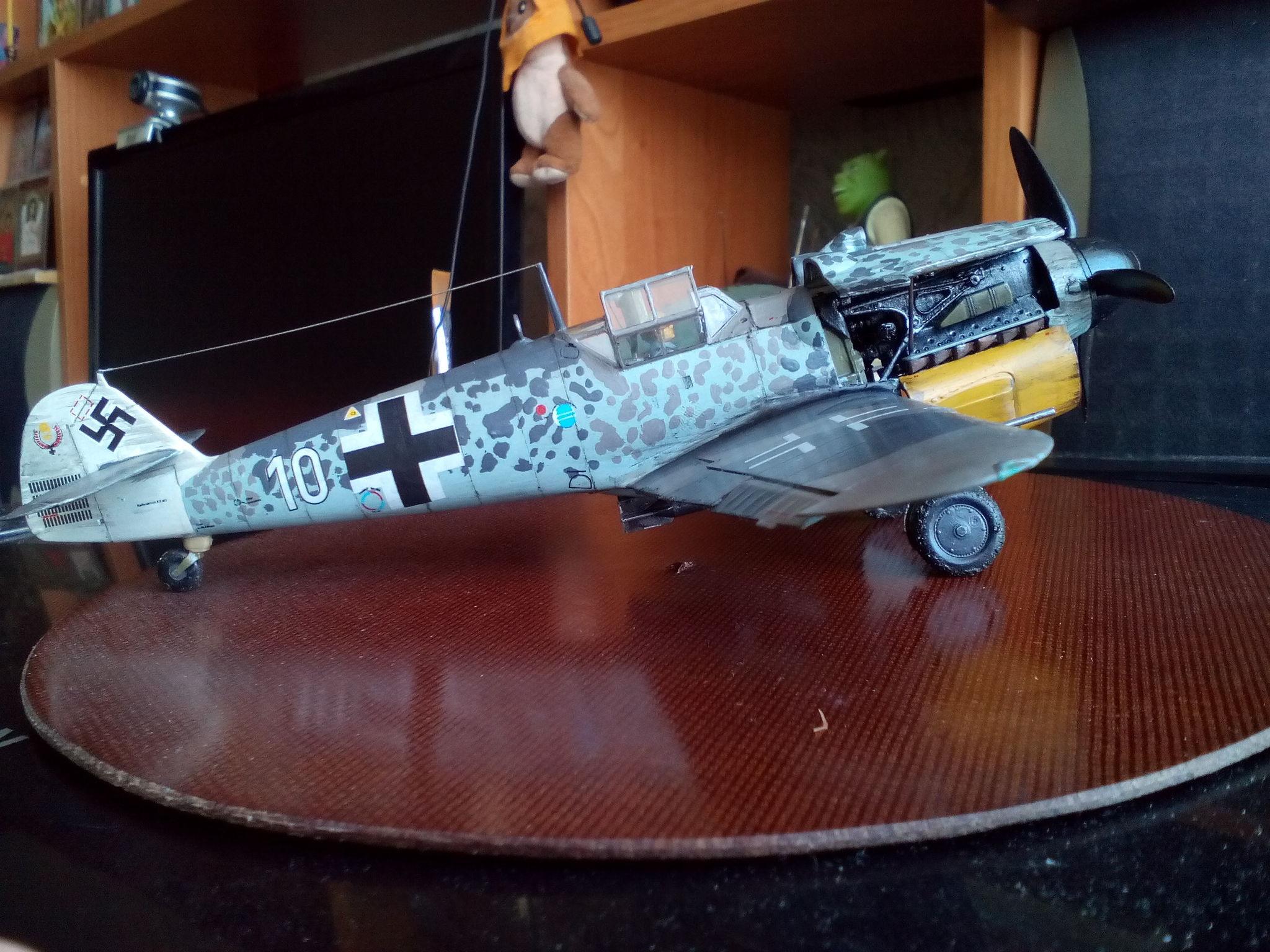 Обои Подвесной топливный бак, gustav, bf-109, мesserschmitt, б-17, Bf.109G-10, бомбардировщик. Авиация foto 11