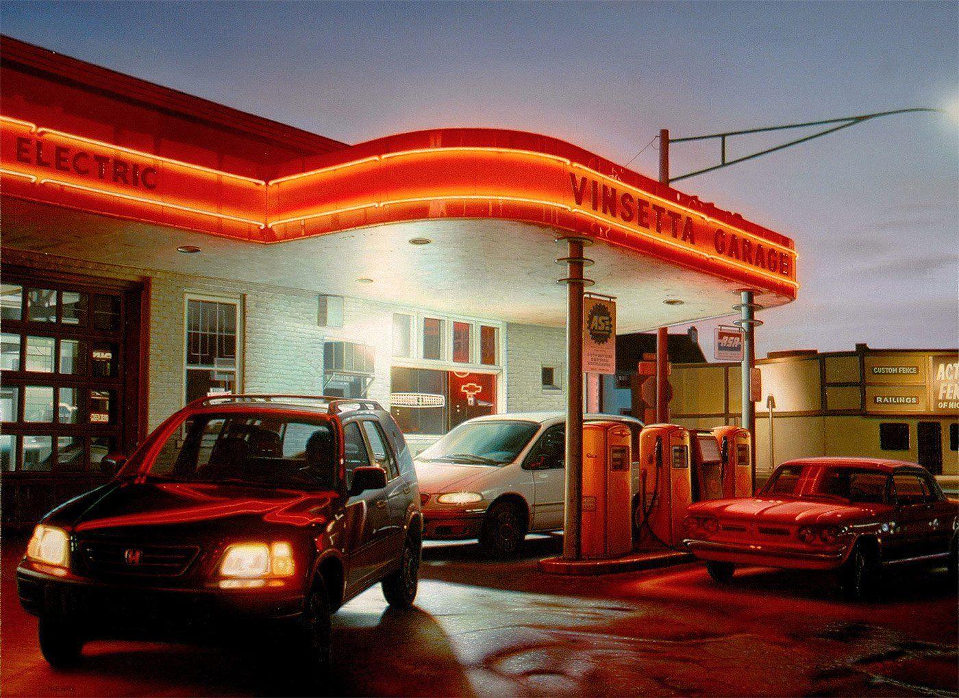 Обои улица, городской пейзаж, автомобиль, Париж Ночью, дома, Константин Коровин, люди, картина. Разное foto 17