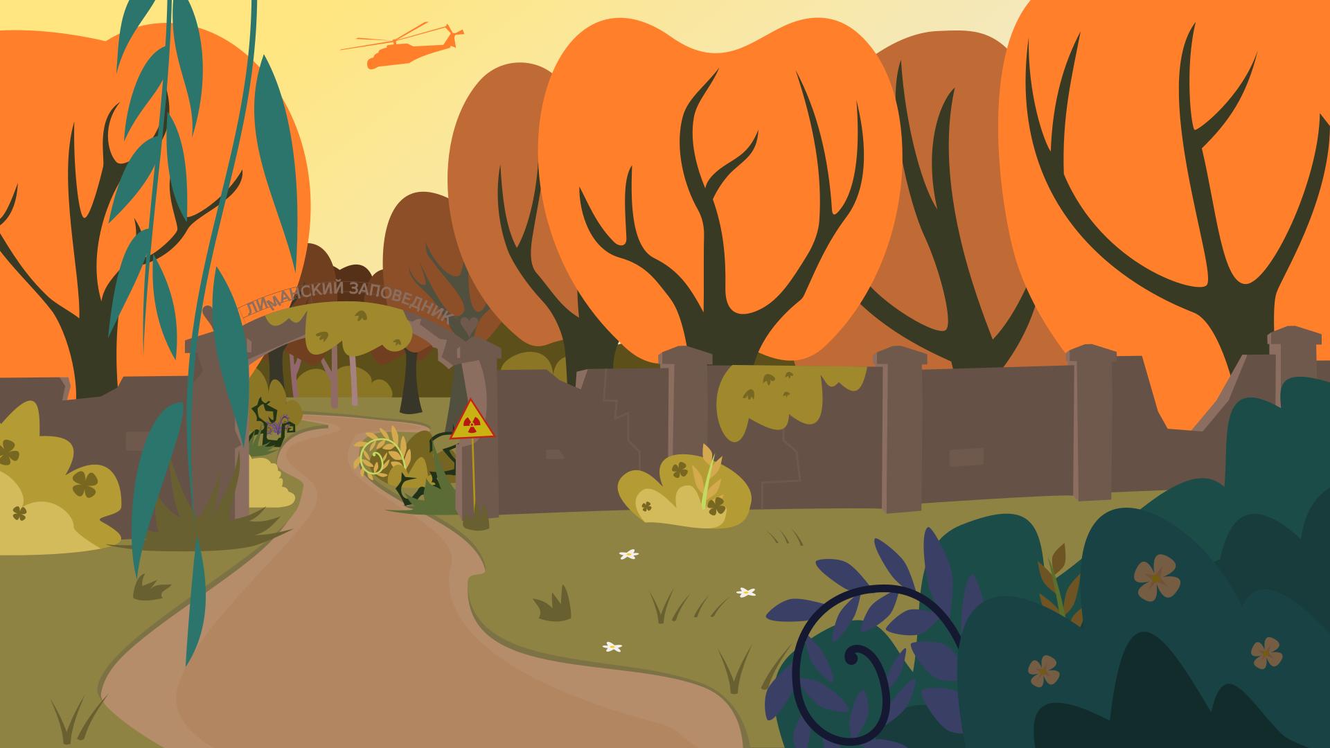 Обои деревья, дорога, сталкер, чернобыль, сталкер, Fan art, птицы, зона. Игры foto 2