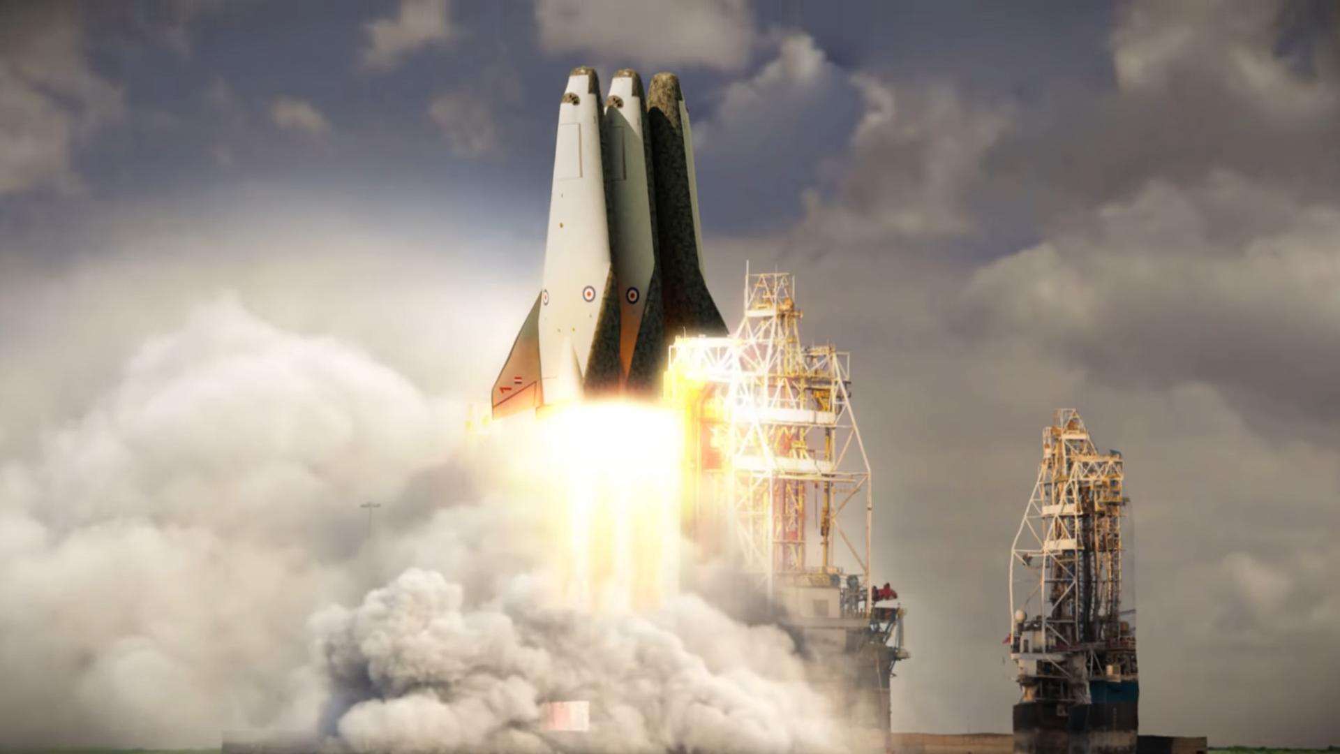 Обои пламя, тма, россия, космодром, Ракета. Разное