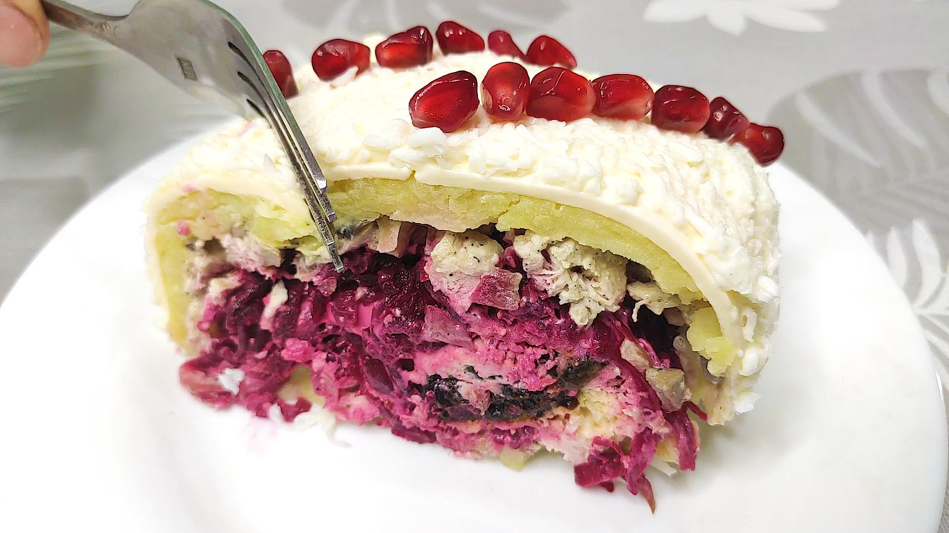 Теперь готовлю его только так! Потрясающий салат на праздничный стол, достойная замена Оливье! | Пикабу